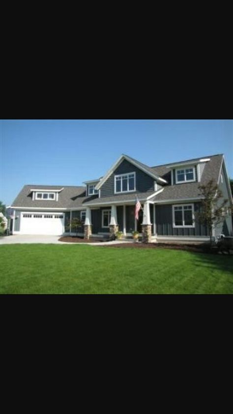 Angled Attached Garage Garage Exterior House With Porch Porch Remodel