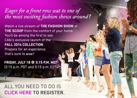 Fall 2014 Fashion Show live stream--register now!!