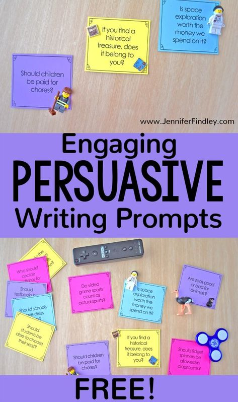 Engaging Persuasive Writing Prompts (Free Download) -
