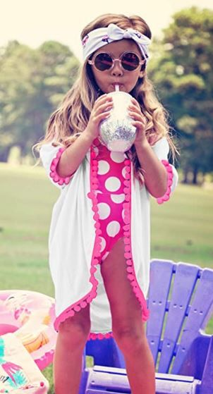 Girls' Cover-ups Swimsuit Fashion | Well dressed kids, Girls cover up, Wrap  swimsuit