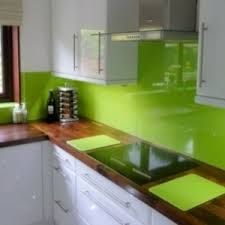 intensify the look of your kitchen with 20 glass back painted backsplash   green kitchen accessories lime green kitchen and green kitchen intensify the look of your kitchen with 20 glass back painted      rh   pinterest co uk