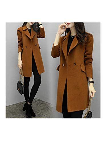 top-rated professional various design durable in use Mildred Jones Wool Coat Winter Jacket Women Slim Woolen Long ...
