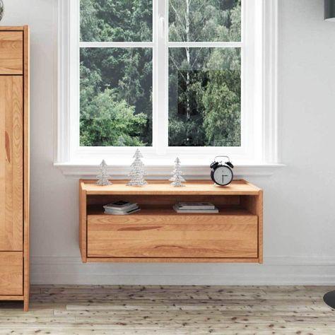 Hängeschrank aus Kernbuche Massivholz mit offenem Fach Jetzt - hängeschrank wohnzimmer weiß