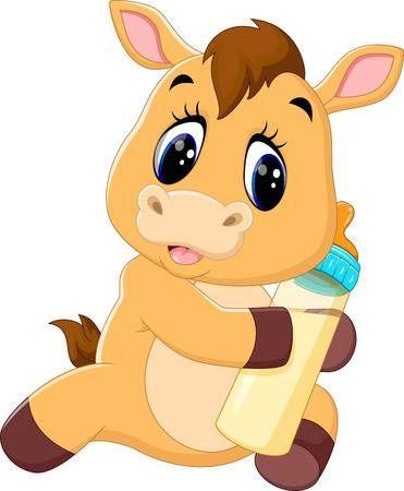 Ilustracao De Illustration Of Cute Baby Horse Cartoon Arte Vetorial Clipart E Vetores Stock Image 58989957 Cute Baby Horses Cute Animal Clipart Horse Cartoon