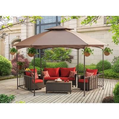 Store It Out Midi 4 Ft W X 2 4 Ft D Plastic Horizontal Garbage Shed In 2020 Patio Gazebo Patio Backyard Gazebo
