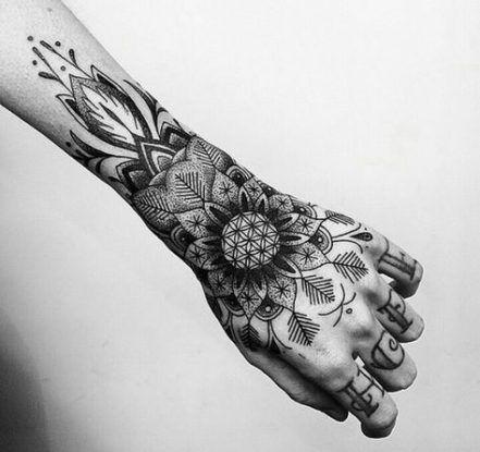 53 Ideas Tattoo Geometric Hand Tattoos Mandala Hand Tattoos Life Tattoos