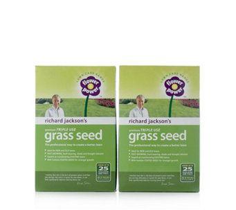 515280 Richard Jackson S 2 X 650g Triple Use Grass Seed Qvc