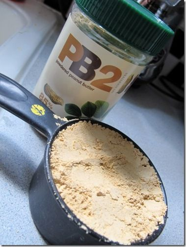 How to Make Your Own Protein Powder Mix > has PB2 (peanut butter powder 2 - powdered p-nut butter?! WooHoo!) > there's enough stuff in this one to help you overpower Stuperman (yeah-I meant to misspell Superman's name ;-)