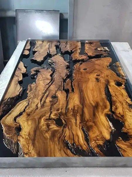 Naturholztisch Epoxy Tisch Mese Lemn Epoxytisch Lemn Mese Naturholztisch Naturholz Tisch Tisch Holz