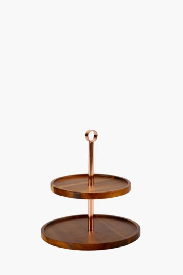 Java Wooden 2 Tier Cake Stand Tiered Cake Stand Serving Tray 2 Tier Cake Stand