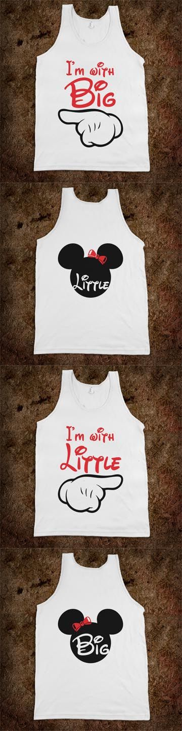 Cute Mickey Themed - Big Sis Lil Sis Reveal Frat Tank