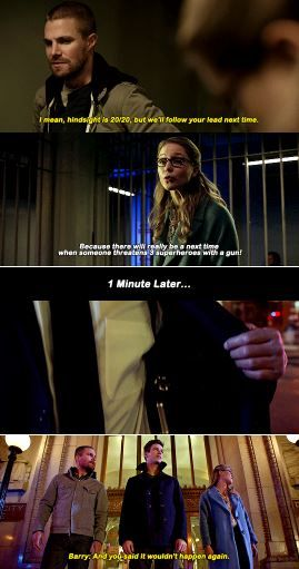 Kara, Barry and Oliver #Elseworlds   arrowverse ➹ in 2019