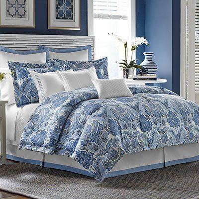 Decorative Pillow Tommy Bahama Porcelain Paradise White Bedroom