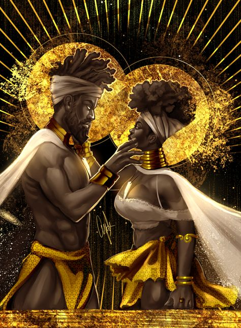 Black love always Sexy Black Art, Black Girl Art, Black Art Painting, Black Artwork, Black Couple Art, Black King And Queen, King Queen, Afrique Art, Black Art Pictures