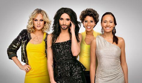 Mirjam Weichselbraun, Alice Tumler und Arabella Kiesbauer moderieren Eurovision Song Contest 2015! Conchita Wurst hostet Green Room und performt Showacts. --- http://www.eurovision-austria.com/mirjam-weichselbraun-alice-tumler-und-arabella-kiesbauer-moderieren-eurovision-song-contest-2015/
