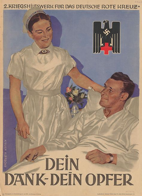 WWII Poster of the German Red Cross.