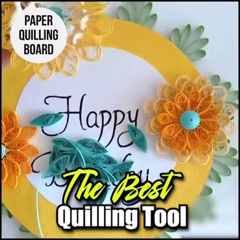 Bring out the fullness of your creativity with our Paper Quilling Board with Pins! With holes arranged in rows and half rounds, you can insert the pin for an ideal shape and start paper quilling.