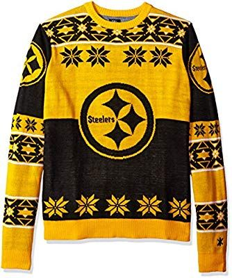 competitive price 5d4c9 52166 Amazon.com : Klew Ugly Sweater Pittsburgh STEELERS, X-Large ...