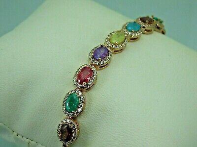 Turkish Handmade Jewelry 925 Sterling Silver Zircon Stone Women Bracelet