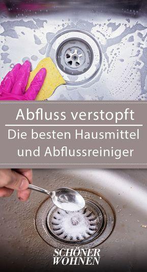Abfluss Verstopft Die Besten Hausmittel Abflussreiniger Hausmittel Abfluss Und Verstopfte Abflusse