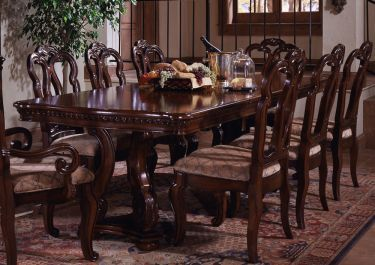 7Pc San Marino Rectangular Double Pedestal Table Dining Room Set Delectable Hamlyn Dining Room Set Design Inspiration