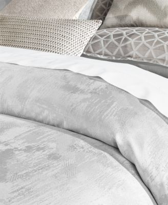 Hotel Collection Interlattice Full Queen Duvet Cover Created For Macy S Silver Hotel Collection Bed Linen Inspiration Bedding Collections
