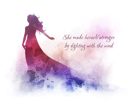 She made herself stronger by fighting with the wind, Quote, ART PRINT, The Secret Garden, Frances Hodgson Burnett, Inspirational, Gift, Wall Art, Home Decor, book, novel, classic, quotes, gift ideas, watercolour, birthday, christmas #Quote #ARTPRINT #TheSecretGarden #FrancesHodgsonBurnett #Inspirational #Gift #WallArt #HomeDecor #book #novel #classic #quotes #giftideas #watercolour #birthday #christmas
