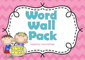 This pack includes everything you need to set up a word wall in your classroom!  * 26 circle alphabet cards with picture cues  *110 most commonly used words colour coded to match the alphabet circles  *1 X heading for word wall    I use felt on the wall and velcro on the words so that when students locate a word they need to spell they can take it off the wall and back to their tables to copy.