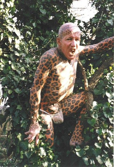 the leopardman the worlds largest tattoo by barry louvaine 1987 guiness book of extraordinary records guiness world record pinterest large tattoos