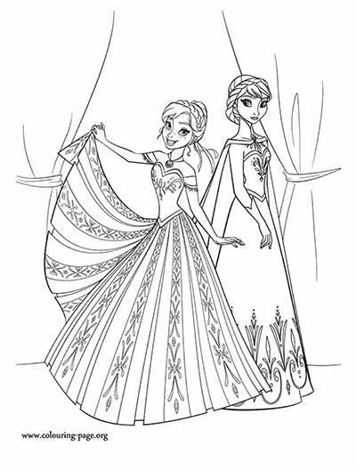 Anna Coronation Dress Coloring Pages