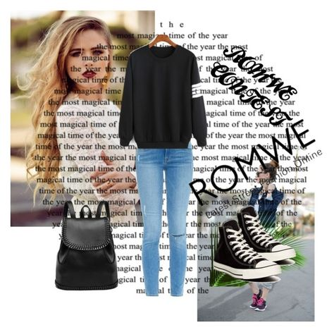 """ROMWE CONTEST"" by irmma ❤ liked on Polyvore featuring Frame Denim and Converse"