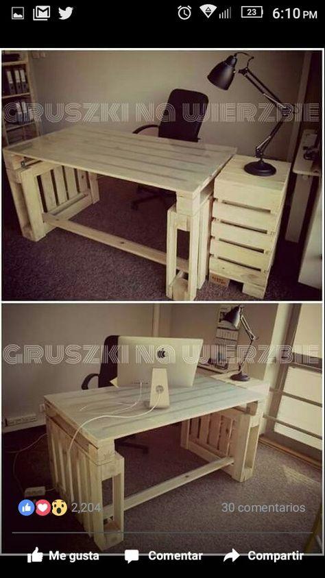 Wood Pallet Office Computer Desk   Office Computer Desk, Pallets And Desks