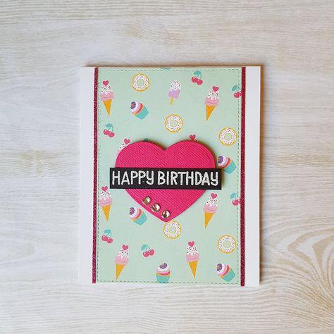 Ice Cream Birthday Card Kids Birthday Card Kelly Bates Kids Birthday Cards Kids Birthday Birthday Cards