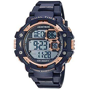 Armitron Sport Men 39 S Quartz Resin Sport Watch Color Blue