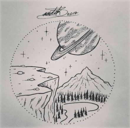 Space Drawing Ideas