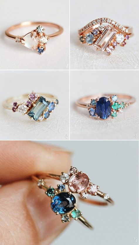 28 Handcrafted Alternative Non-Traditional Engagement Rings - Praise Wedding