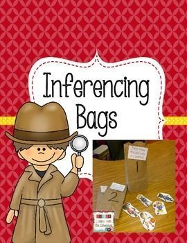 INFERENCING BAGS - Fun hands-on activity for inferring. Learning Lessons with Mrs. Labrasciano