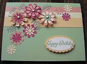 Love the colors eate a beautiful birthday card with flower love the colors eate a beautiful birthday card with flower punches mirian orellans pinterest tarjetas tarjetas de cumpleaos y cumpleaos m4hsunfo