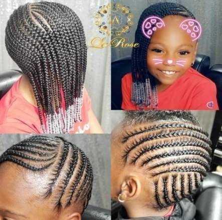 New Braids With Beads For Girls Kids Natural Hairstyles Ideas Lemonade Braids For Ch Coiffure Naturelle Salon De Coiffure Enfants Tresses De Cheveux Naturels