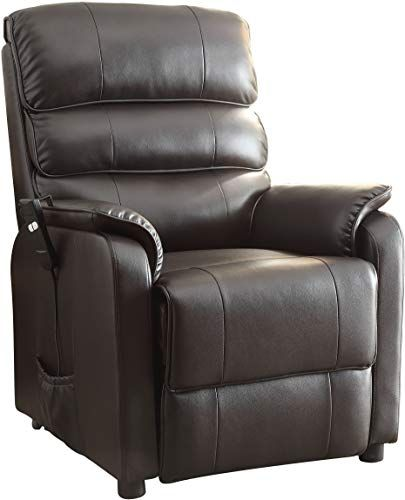 Buy Homelegance Kellen Power Lift Bonded Leather Recliner Dark Brown Online Leather Recliner Leather Recliner Chair Recliner