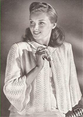 Lacy bedjacket patterns lingerie, 9 vintage knit patterns starlet glam 1940s winter wedding dressing jacket vintage wedding cape