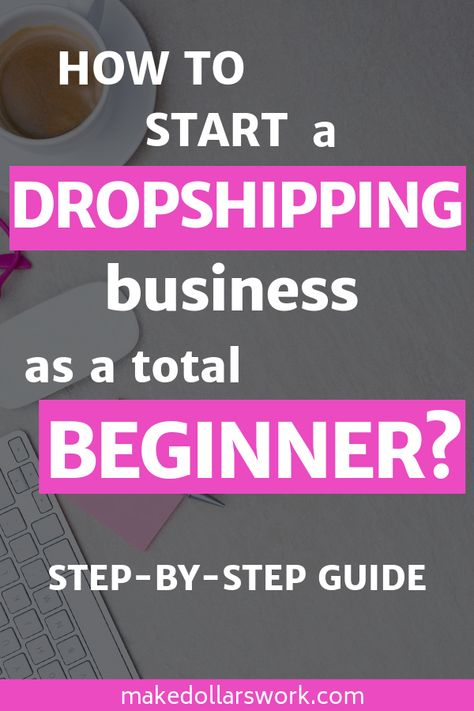 Do you want to make money from home with your own online business? Learn how to start a dropshipping business and set up an online store that can either be a nice side hustle or be turned into a full-time income. This step-by-step guide will teach help you start your online career! #dropshipping #moneymoneyfromhome #stayathomemom #workfromhome #sideincome #passiveincome #onlineshop #businessowner #entryleveljob #makemoneyonline
