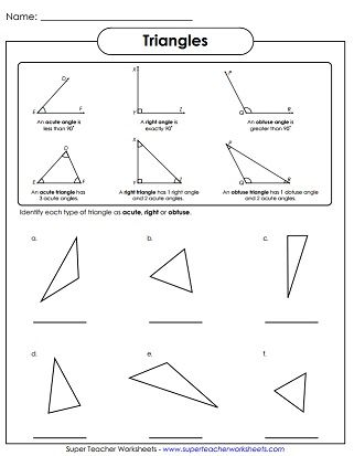 Triangles Angles Worksheet With Images Obtuse Angle Angles