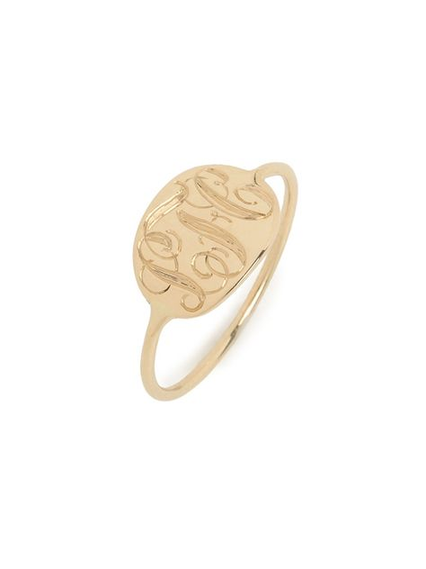 Add it to the wish list! Gold Slim Signet Ring (Ships 4 Weeks from Order Date) - Rings - Categories - Shop Jewelry | BaubleBar