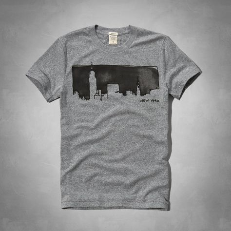Mens - Watercolor NYC Graphic Tee | Mens - Graphic Tees | eu.Abercrombie.com