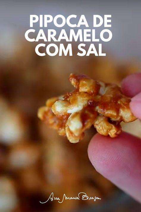 Aprenda a fazer uma maravilhosa Pipoca de caramelo com sal. Super crocante, meia doce, meia salgada. Sem igual!