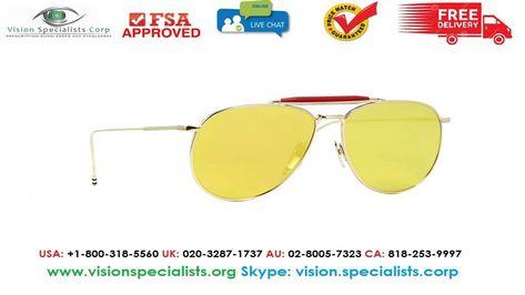 94fae3cf523 Thom Browne TB 015 LTD Gold Sunglasses