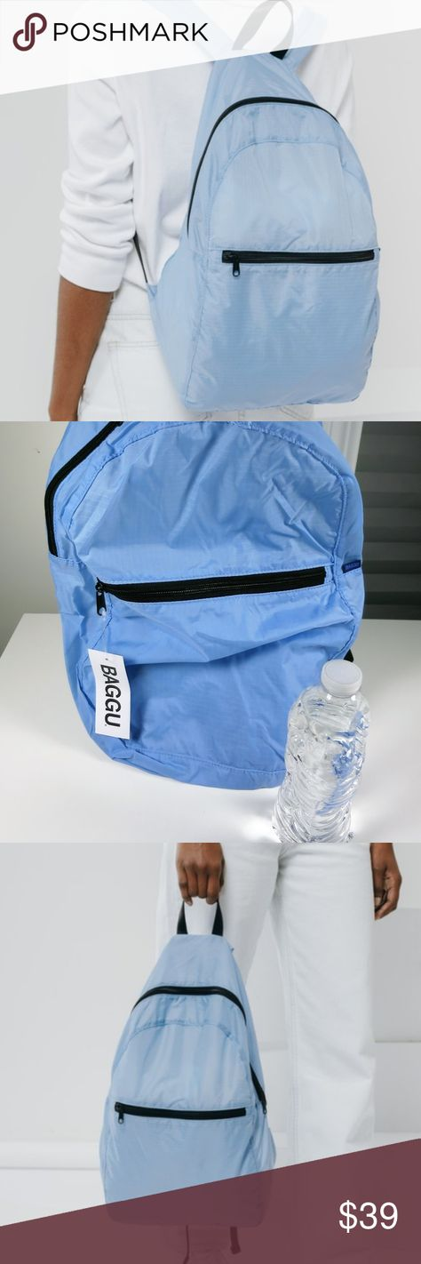 11feffabf6 Baggu Ripstop Nylon Backpack Powder Blue NWT Brand new with tags ...