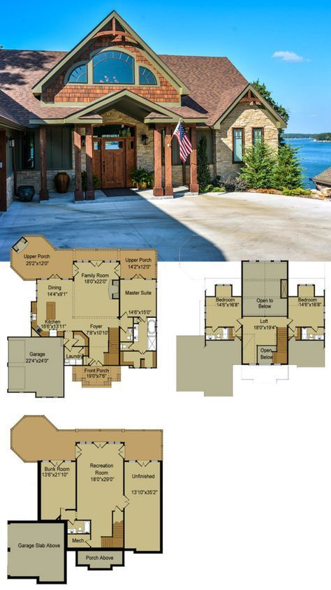 Ideas House Lake Plans With Basement Cabin Cottage House Plans Mountain House Plans Basement House Plans Open concept mountain house plans