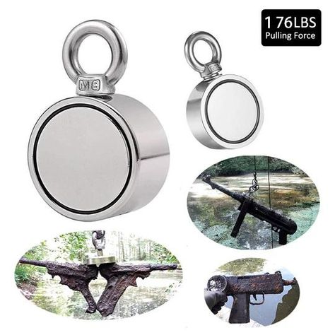 FREE SHIPPINGOrder Over $80 BUY 3 USE 8% OFF CODE :8OFF  ThisMagnaHookis the most compact and powerfulfishing magnet in its class. This lightweight too